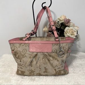 Beautiful Pink  Signature Coach Purse